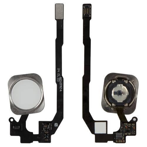Шлейф для iPhone 5S, iPhone SE, кнопки Home, білий, з пластиком