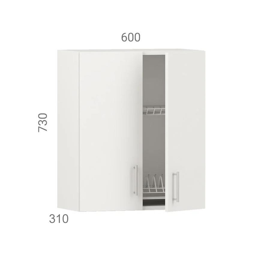 Кухонний шафа навісний (модуль) з сушкою (з дном з дсп) і фасадами з пластику на основі МДФ (60х31х73 см)