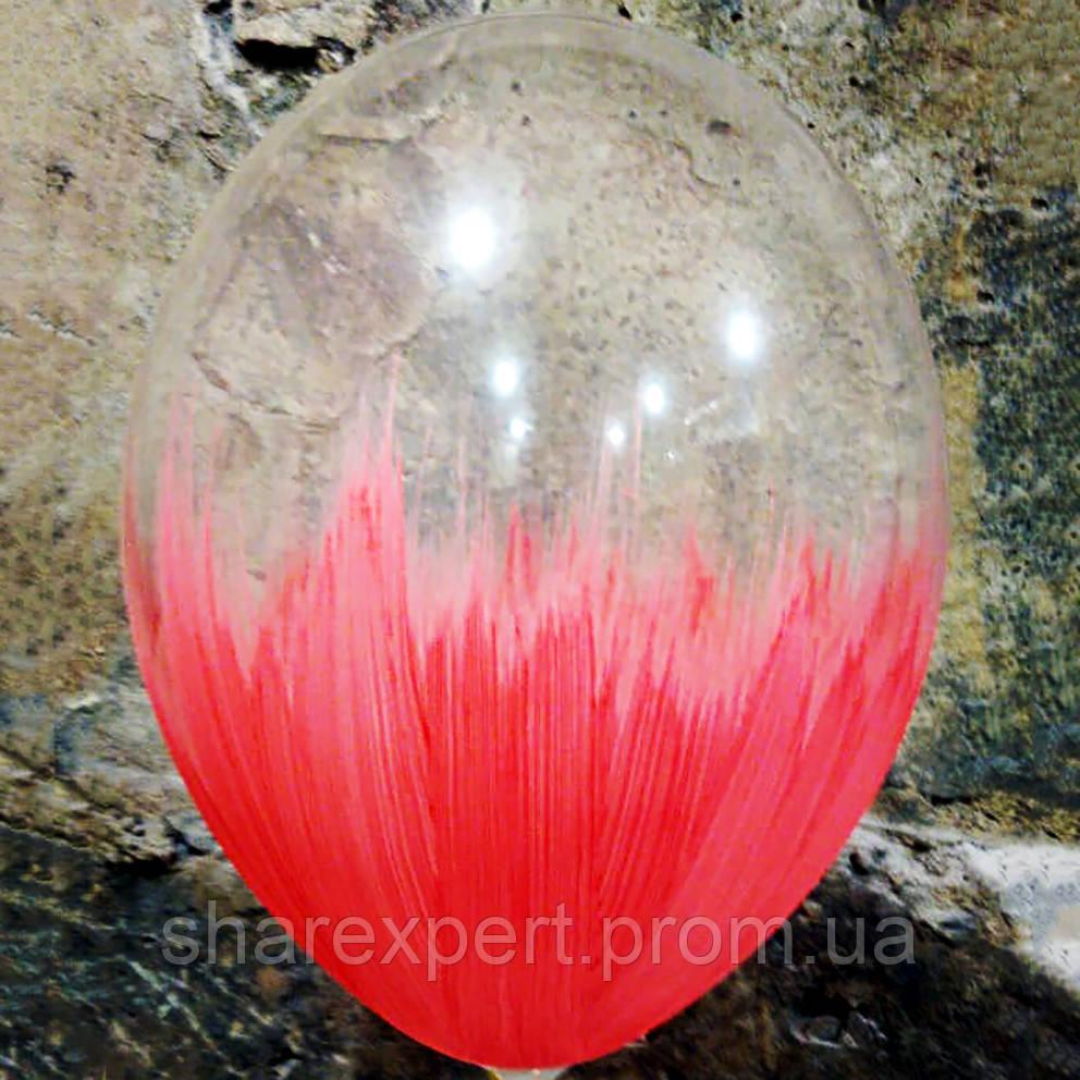 Красно/Прозрачные латексные шары БРАШ