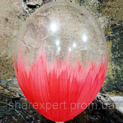 Красно/Прозрачные латексные шары БРАШ, фото 2