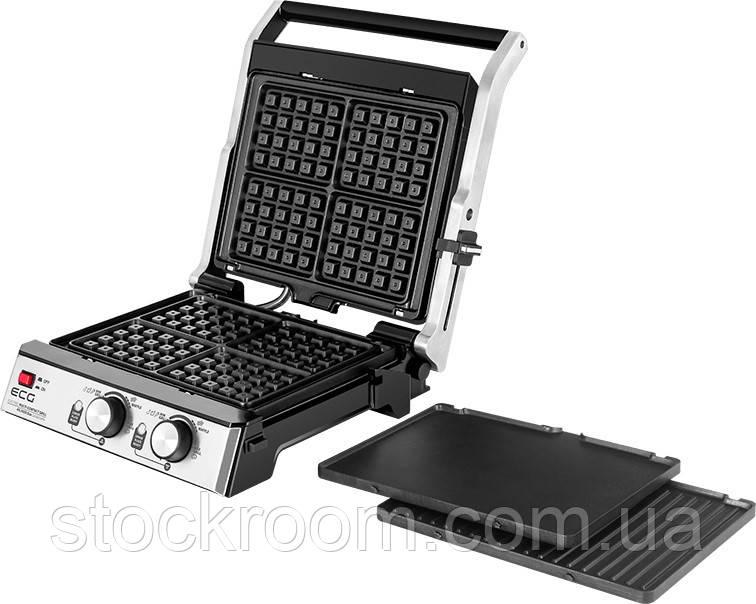 Електрогриль 3в1 ECG KG 2033 Duo Grill & Waffle