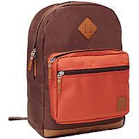 Рюкзак для ноутбука Bagland Zanetti 16 л. коричневий/кирпич (0011766), фото 1
