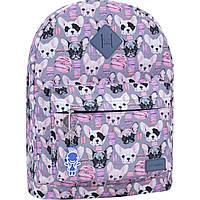 Рюкзак молодежный с собачками женский  G-SAVOR 17 л. городской рюкзачок девушке принт собаки