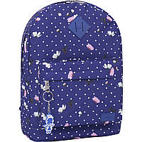 Рюкзак женский в горошек  17 л. рюкзачок девушке на каждый день, стильный яркий