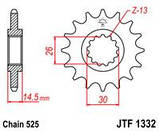 Звезда стальная передняя JT Sprockets JT JTF1332.15, фото 2