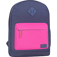 Рюкзак Bagland Молодежный W/R 17 л. Серый/розовый (00533662), фото 1