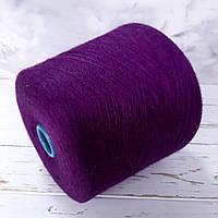 Пряжа Кашемир 70% шелк 30% Loro Piana Royal Пурпурный меланж, фото 1