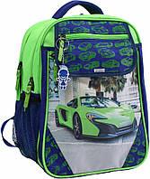 Рюкзак школьный Bagland Отличник 20 л. Электрик (зеленая машина 20) (0058070), фото 1
