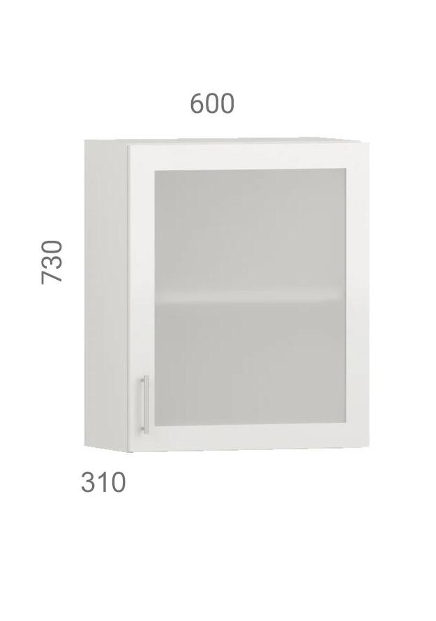 Кухонний шафа навісний (модуль) вітрина з фасадом з пластику на основі МДФ (60х31х73 см)