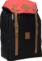 Городской рюкзак Bagland Successful 17 л. Чёрный/красный (0050466), фото 1