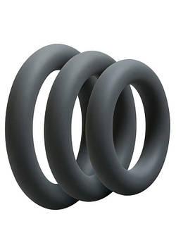 Набор эрекционных колец Doc Johnson OptiMALE 3 C-Ring Set Thick Bomba💣
