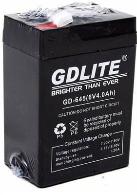 Аккумулятор GDLITE 6V 4.0Ah GD-645 Черный