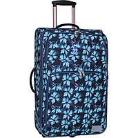 Женский чемодан тканевый большой  70 л. текстильный чемодан на 2 колеса