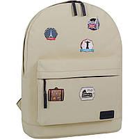 Рюкзак женский на каждый день 17 л. 276 бежевый городской рюкзачок девушке, школьный модный рюкзак