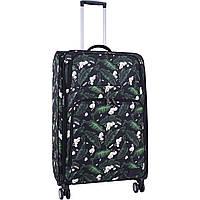 Чемодан текстильный на колесах большой дизайн 83 л. женский тканевый дорожный чемодан 4 колеса