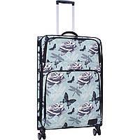 Чемодан женский Валенсия большой  83 л. тканевый дорожный чемодан  на 4 колеса для девушки