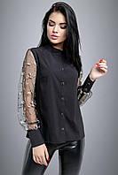Блуза 12-1005 - черный:  M L XL XXL, фото 1