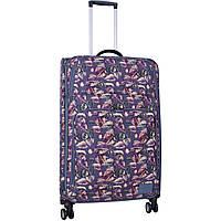 Чемодан на 4 колесах дорожный  большой дизайн 83 л. тканевый яркий чемодан девушке размер Л