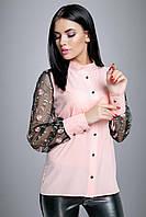 Блуза 12-1005 - розовый:  M L XL XXL, фото 1