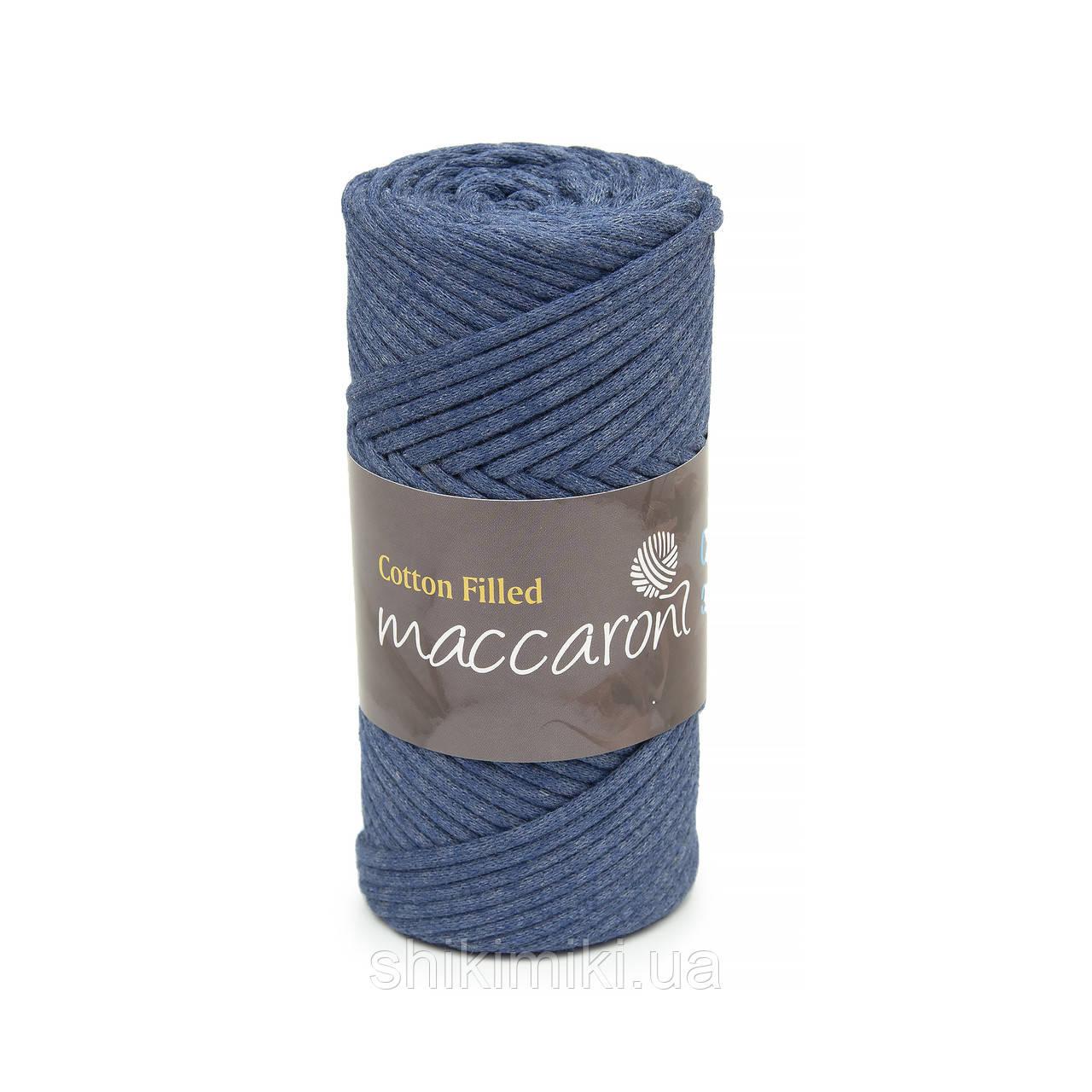 Трикотажный хлопковый шнур Cotton Filled 3 мм, цвет Индиго