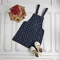 Детский джинсовый сарафан Louis Vuitton, фото 1
