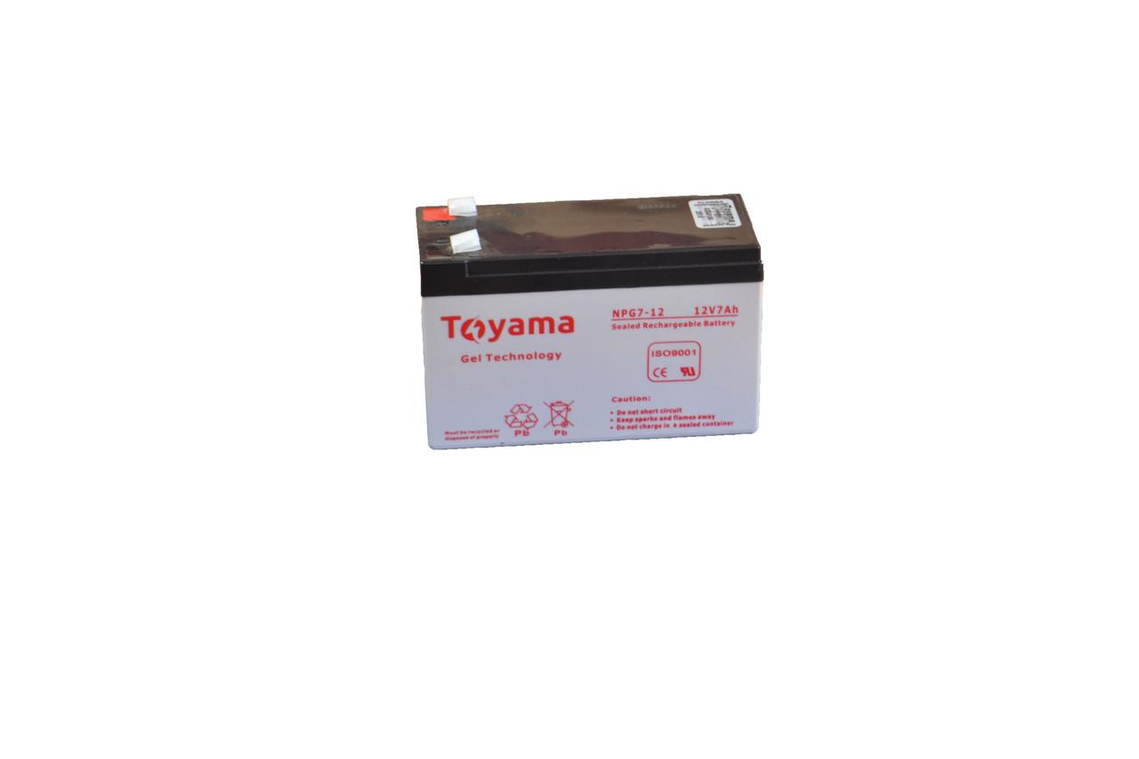 Гелевая аккумуляторная батарея Toyama 12V 9Ah, фото 1