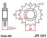 Звезда стальная передняя JT Sprockets JT JTF1371.14, фото 2