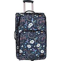 Женский чемодан большого размера 70 л. тканевый чемодан с разширением