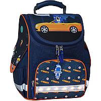 Рюкзак школьный каркасный с фонариками Bagland Успех 12 л. синий 432 (00551703), фото 1