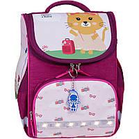 Рюкзак школьный каркасный с фонариками Bagland Успех 12 л. малиновый 434 (00551703), фото 1