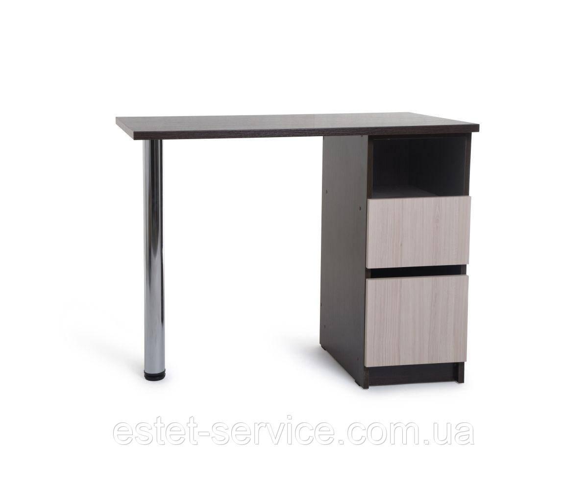 Маникюрный стол с тумбой на 2 выдвижных ящика