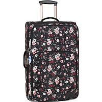 Чемодан дорожный большой дизайн 70 л. женский тканевый чемодан