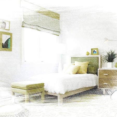 Пошив штор для спальни