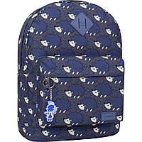 Женский рюкзачок со стильным принтом (дизайн 2021) 17 л. Рюкзак девушке городской цветной