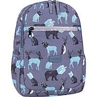 Рюкзак женский городской серого цвета 13 л. Animals прогулочный рюкзак для девушки