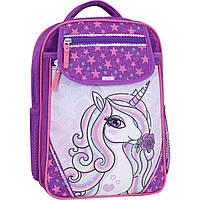 Рюкзак школьный 20 л.Stars purple unicorn 678, фото 1