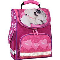 Рюкзак школьный каркасный12 л. Stars  crimson hearts 593, фото 1