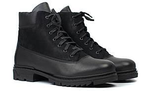 Черевики чоловічі зимові шкіряні на хутрі взуття великих розмірів Rosso Avangard Taiga Ultimate Black BS