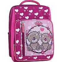 Рюкзак школьный 8л.Stars 143 малиновые ведмежата, фото 1