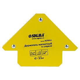 Магнит уголок для сварки стрела  SIGMA 11кг 75×65мм (45,90.135°)