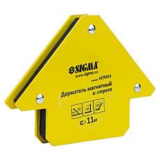 Магнит уголок для сварки стрела  SIGMA 11кг 75×65мм (45,90.135°), фото 2