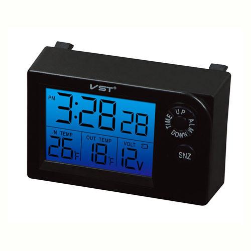 Авточасы VST-7048V, температура, вольтметр