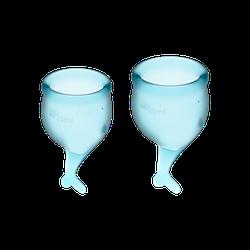 Менструальные чаши SATISFYER FEEL SECURE MENSTRUAL CUP LIGHT BLUE