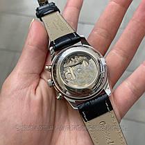 Часы мужские наручные механика с автоподзаводом  Longines Collection Moonphases Реплика ААА класса, фото 3