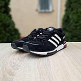 Чоловічі кросівки в стилі Adidas ZX 750 чорні з червоним, фото 10
