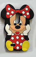 Резиновый 3D чехол для LG L Bello Dual D335 Minnie Mouse