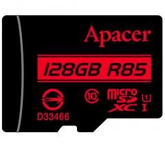 Карта памяти Apacer microSDHC, 128Gb, Class10 UHS-1, R85MB/s AP128GMCSX10U5-R + SD адаптер