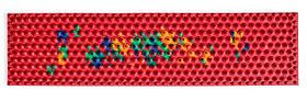 Аплікатор Ляпко 5,8 Ag Супутник Плюс розмір 59 х 235 мм голчастий масажний міні килимок від болю Червоний