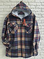 Рубашка теплая мужская на меху норма с капюшоном 56-58 в розницу, фото 1