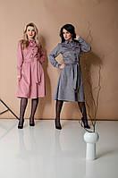 Женское деловое платье с пуговицами (2 цвета), фото 1